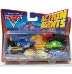 VEHICULE CARS 2 ACTION AGENT + PROPULSEUR - ACER ET ROD TORQUE REDLINE - MATTEL - V8652