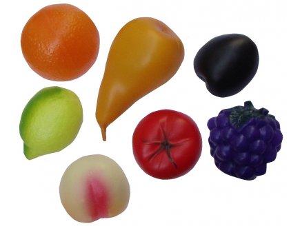7 GRANDS FRUITS EN PLASTIQUE - JEU IMITATION MARCHANDE