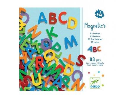 83 LETTRES MAJUSCULES MAGNETIQUES EN BOIS - DJECO - DJ03101