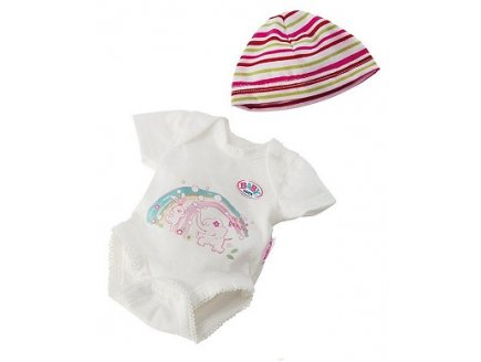 BODY IMPRIME + BONNET RAYE POUPON 43 CM BABY BORN - ZAPF CREATION (26)