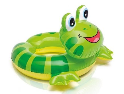 BOUEE GONFLABLE TETE D'ANIMAL - GRENOUILLE - PISCINE - PLAGE - INTEX