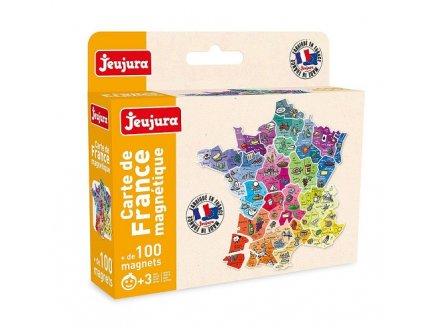 CARTE DE FRANCE MAGNETIQUE AIMANTS - JEUJURA - 8973 - ACCESSOIRE TABLEAU