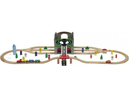 Grand circuit de train en bois, Coffret train en bois 70