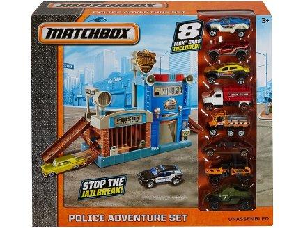COFFRET AVENTURE POLICE AVEC 8 VOITURES - MATCHBOX - MATTEL - DYY24