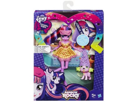 COFFRET POUPEE TWILIGHT SPARKLE + SPIKE LE CHIOT - RAINBOW ROCKS - MY LITTLE PONY EQUESTRIA GIRLS - HASBRO - B1072