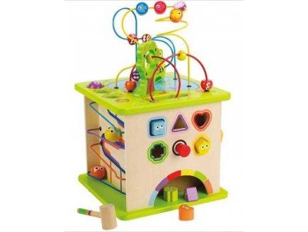 cube g ant multi activit s en bois jeux d veil hape. Black Bedroom Furniture Sets. Home Design Ideas