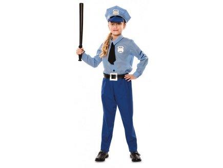 DEGUISEMENT AGENT DE POLICE BLEU 5/6 ANS ENFANT - UNIFORME METIER POLICIER
