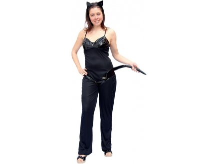 d guisement adulte chat noir costume sexy femme pas cher carnaval. Black Bedroom Furniture Sets. Home Design Ideas