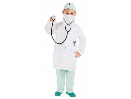 DEGUISEMENT DOCTEUR AVEC STETHOSCOPE 5/6 ANS ENFANT - BLOUSE MEDECIN - IMITATION