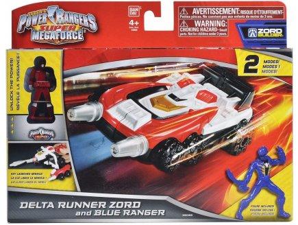 DELTA RUNNER ZORD ET RANGER BLEU - VEHICULE - POWER RANGERS - BANDAI - 38082