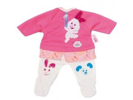 ENSEMBLE ROSE ET BLANC PETIT LAPIN - MY LITTLE BABY BORN - HABIT POUPEE 32 CM - ZAPF (ZA32)