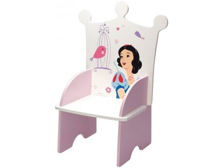 chaise enfant blanche neige fauteuil disney princess sige en bois princesse. Black Bedroom Furniture Sets. Home Design Ideas