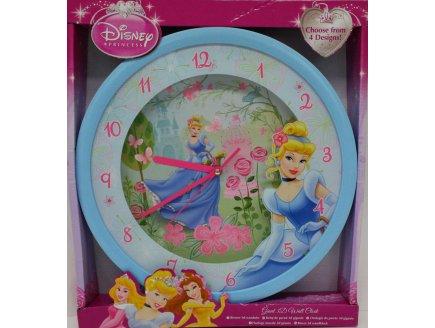Horloge murale la belle au cendrillon 3d g ante montre disney for Montre decoration