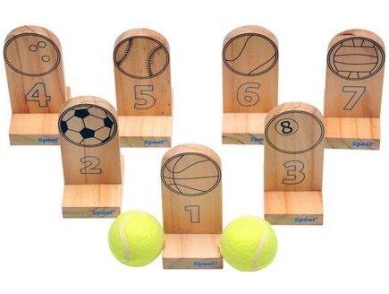 Jouet en bois foot golf jeu de lancer avec balle acheter for Jeu exterieur bois