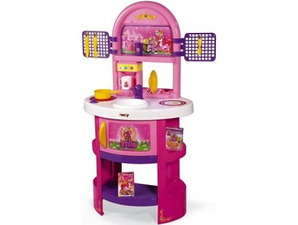 cuisine en plastique rose pour enfant jeu dimitation filly princesse smoby 024653. Black Bedroom Furniture Sets. Home Design Ideas