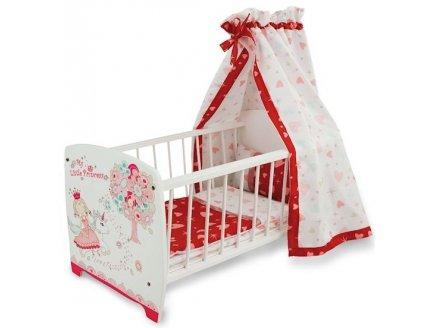 lit de poup e baldaquin princesse avec literie jouet en bois. Black Bedroom Furniture Sets. Home Design Ideas