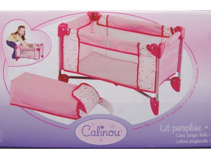 jouet lit parapluie pliant pour poup e mobilier poupon. Black Bedroom Furniture Sets. Home Design Ideas