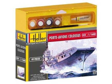 MAQUETTE BATEAU PORTE AVIONS COLOSSUS - ECHELLE 1/1600 - HELLER - 49076