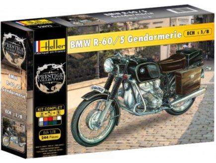 MAQUETTE MOTO BMW R-60/5 GENDARMERIE - ECHELLE 1/8 - HELLER - 52992
