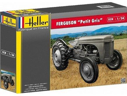 MAQUETTE TRACTEUR FERGUSON TE-20 - PETIT GRIS - ECHELLE 1/24 - HELLER - 81401