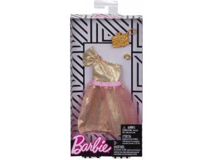 MATTEL - FKT10 - HABIT BARBIE - ACCESSOIRE POUPEE - ROBE DE SOIREE ROSE AVEC TULLE ET SAC A MAIN