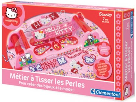 METIER A TISSER LES PERLES HELLO KITTY - CLEMENTONI - 62106
