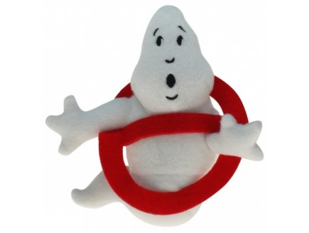 PELUCHE GEANTE : LOGO GHOSTBUSTERS 60 CM - FANTOME - SOS FANTOMES - PELUCHE LICENCE - 6156A