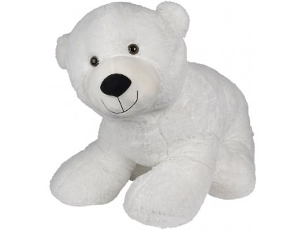 PELUCHE GEANTE OURS POLAIRE BLANC POMPON 100 CM - GRAND OURS 1 METRE - NICOTOY