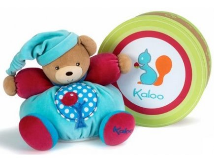 PELUCHE PATAPOUF OURS POMMIER MEDIUM COLORS 25 CM - KALOO - 963251
