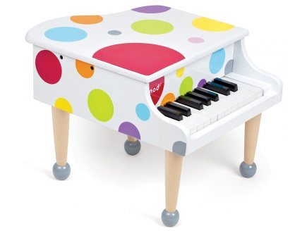 PIANO A QUEUE CONFETTI EN BOIS - JANOD - J07627 - JOUET INSTRUMENT DE MUSIQUE