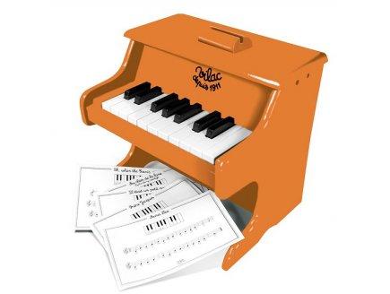 PIANO ORANGE SUN EN BOIS 18 TOUCHES + PARTITIONS - VILAC - 50839 - JOUET MUSICAL