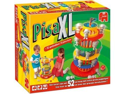 PISA XL - TOUR DE 52 CM AVEC DE GRAND BONSHOMMES - TOUR GEANTE - PLEIN AIR - JEU DE SOCIETE - JUMBO