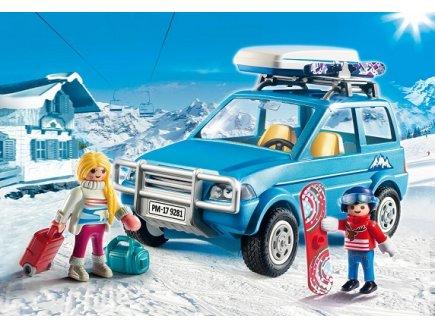 playmobil 9281 family fun voiture 4x4 avec coffre de toit