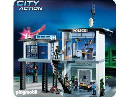 PLAYMOBIL POLICE 5182 COMMISSARIAT DE POLICE AVEC SYSTEME D'ALARME
