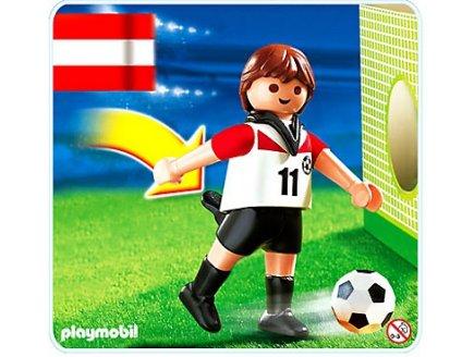 playmobil sportifs 4714 joueur de football equipe autriche