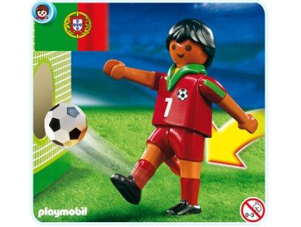 art playmobil sportifs  joueur de football equipe du portugal