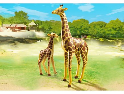 playmobil 6640 girafe et girafon animaux zoo playmobil. Black Bedroom Furniture Sets. Home Design Ideas