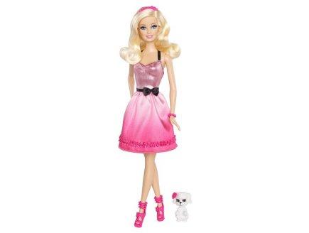 Coffret poup e barbie et son chien sequin jouet mattel for Barbie chien piscine