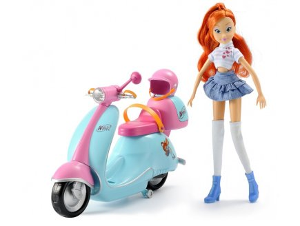 POUPEE BLOOM ET SON SCOOTER WINX CLUB - WITTY TOYS - 05591201
