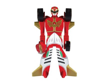 POWER RANGERS MEGAFORCE ROUGE FIGURINE TRANS-VEHICULE - 12 CM - BANDAI - 88591