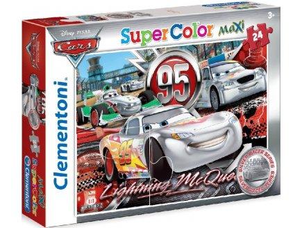 PUZZLE DISNEY CARS - 24 PIECES - PUZZLE SUPER COLOR MAXI - CLEMENTONI - 24442