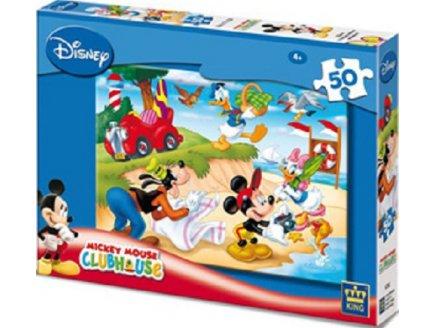 PUZZLE DISNEY MICKEY DONALD ET DINGO A LA PLAGE 50 PIECES - KING - 4736A