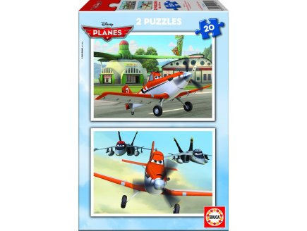 PUZZLE DISNEY PLANES 2 X 20 PIECES - EDUCA - 15565