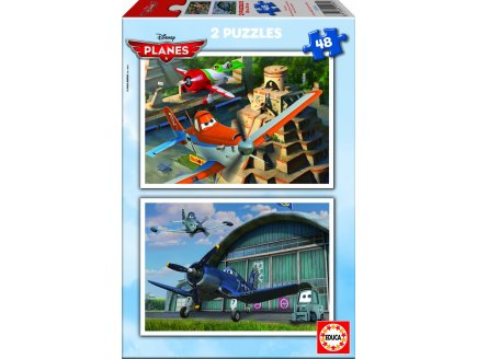 PUZZLE DISNEY PLANES 2 X 48 PIECES - EDUCA - 15566