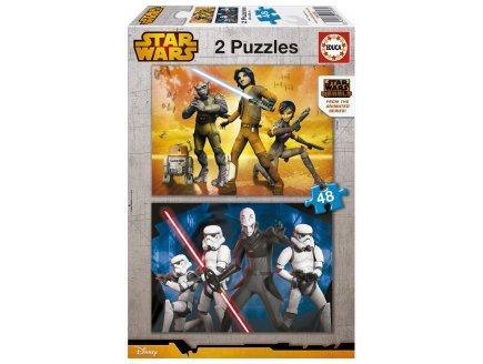 PUZZLE DISNEY : STAR WARS REBELS 2 X 48 PIECES - EDUCA - 16168