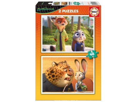 PUZZLE DISNEY ZOOTROPOLIS - 2 X 48 PIECES - EDUCA - 16811