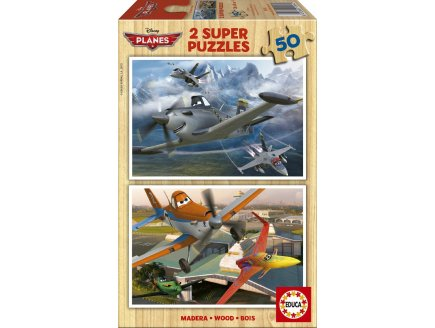 PUZZLE EN BOIS DISNEY PLANES 2 X 50 PIECES - EDUCA - 15564