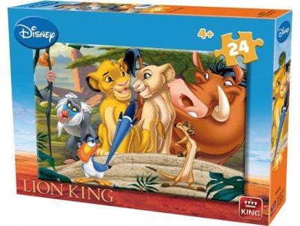 PUZZLE ENFANT ROI LION : SIMBA NALA AVEC TIMON ET PUMBAA ZAZA RAFIKI 24 PIECES - DISNEY - KING - 05247A