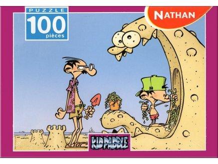 PUZZLE KIDPADDLE A LA PLAGE CONCOURS DE PATES DE SABLE 100 PIECES KID PADDLE - NATHAN - 867516