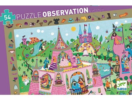 PUZZLE OBSERVATION LES PRINCESSES 54 PIECES - DJECO - DJ07556